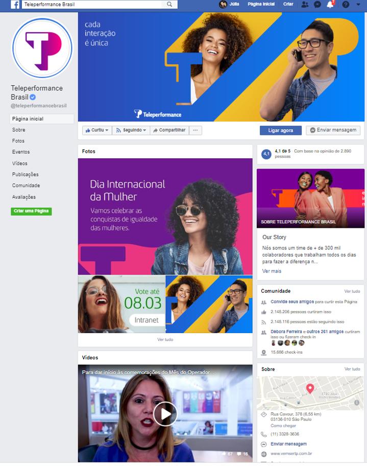 Facebook: gestão de rede social e produção de contéudo