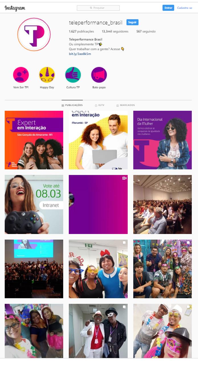 Instagram: Gestão de rede social e produção de conteúdo
